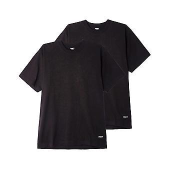 Men's t-shirt obey standard organic tee ss 2 pack 131080300.blk