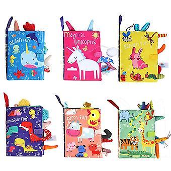 Baby Kinder Bücher frühes Lernen Reißen Schwanz Tuch Buch Eltern-Kind interaktive Nein Papier Puzzle Tuch Buch Spielzeug