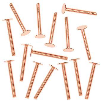 Koper 1/2 inch nagel hoofd klinknagels voor leer 1,3 mm diameter, 20 stuks