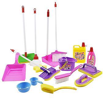 Set di giochi per la pulizia e l'igiene dei bambini, prodotti di simulazione, carrello,