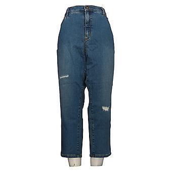 Denim & Co. Jeans Donna Petite Caviglia Classica Indaco Blu A304476