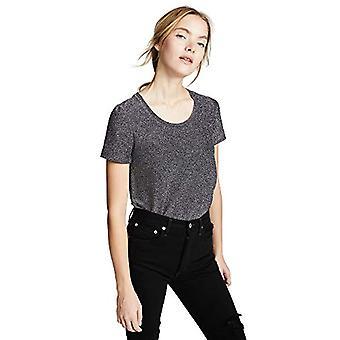 Scotch & Soda Maison Short Sleeve Lurex Tee T-Shirt, Blue (Navy 04), X-Large Woman