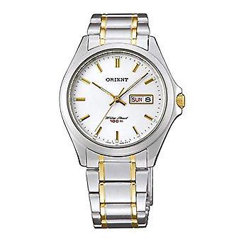 Orient Men's Analog Quartz Watch with Fug0Q002W6 Stainless Steel Strap
