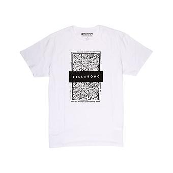 Billabong con locked in short sleeve camiseta en blanco