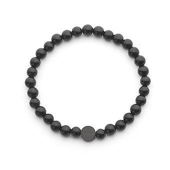 Tayroc black onyx semi-precious stone bracelet
