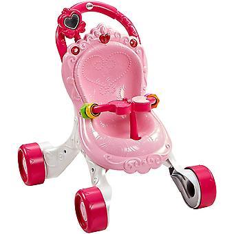 CGN65 - Prinzessin Mama Musikspaß Puppenwagen und Baby Lauflernhilfe mit Spielzeug, Gehhilfe ab 9