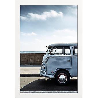 JUNIQE Print - Wolfsburg Surf Blue - Biler Plakat i blåt