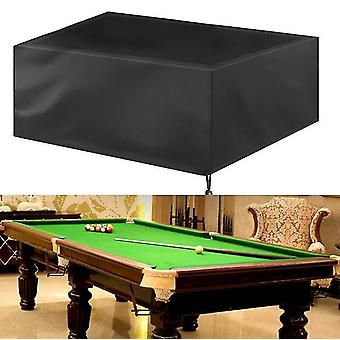225*116*82Cm black 7 8 9ft billiard pool table covers with drawstring pool table billiard waterproof table cover for billiard table x890
