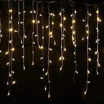 أضواء عيد الميلاد الديكور في الهواء الطلق، أدى الستار أضواء سلسلة الجليد.