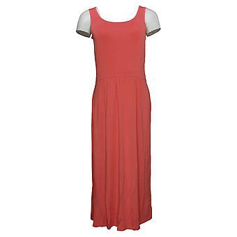 WEBby Living In Yellow Dress Midi Tank Dress Pink 733692
