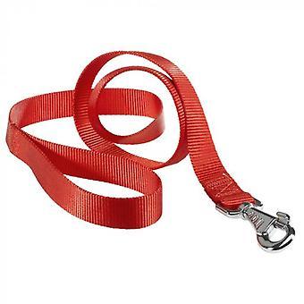Ferplast Laisse de club en nylon rouge (Chiens , Colliers, laisses et harnais , Laisses)