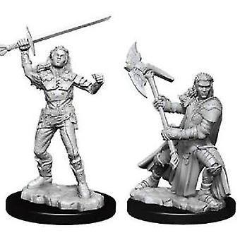 Dungeons & Dragons Nolzurs underbara omålade miniatyrer - Kvinnlig halvorka fighter