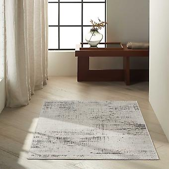 Rush Abstract Rugs Ck953 By Designer Calvin Klein In Ivory Beige