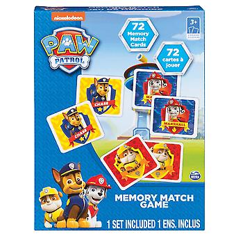 Paw Patrol Mighty Pups Super Paws Memory Match Card Game