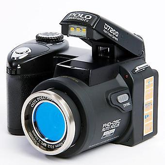 Hd polo d7200 digital camera 33million pixel auto focus professional slr video camera 24x optical zoom three lens bag