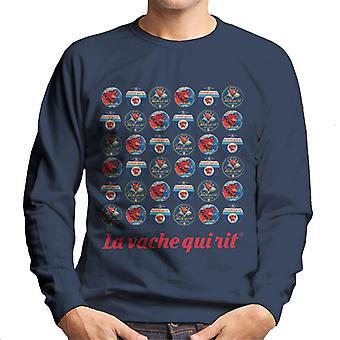 The Laughing Cow 1960s Retro Logo Montage Men's Sweatshirt