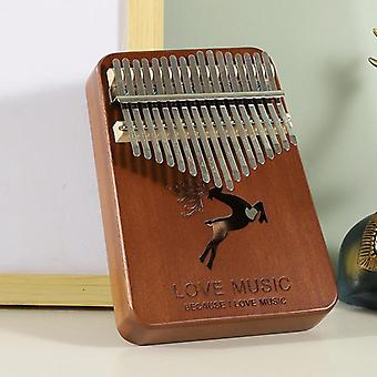 الإبهام البيانو كاليمبا 17 مفاتيح عالية الجودة يدويا الخشب الماهوجني mbira الجسم الآلات الموسيقية