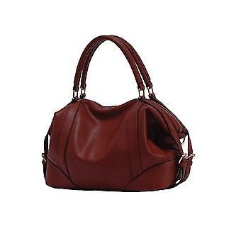 Kvinnor handväska europeisk stil pu läder stor kapacitet budbärarväska svart / brun / vinröd