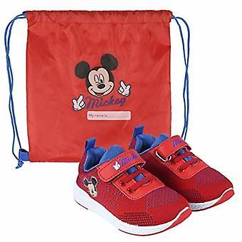 Zapatos deportivos para niños Mickey Mouse Rojo