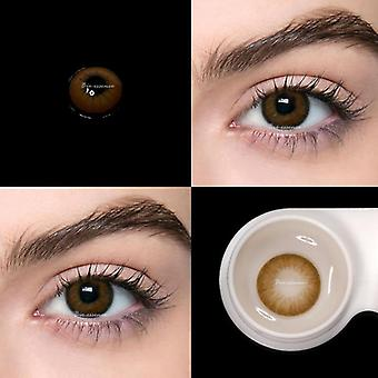 Värikäs piilolinssi silmille