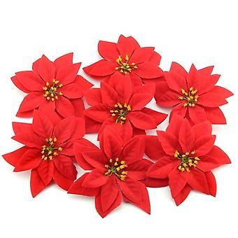 100kpl 14cm flanelli suuri keinotekoinen ruusu kukka päät kotiin häät koristelu leikekirja