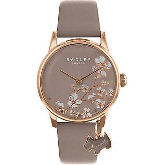 Radley Botanical Floral Ry2690a Beige Dial Leather Strap Ladies Watch