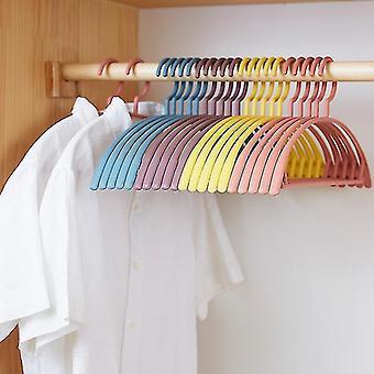 10 Pcs Non-slip Hanger Racks Plastic Display Hangers Windproof Non-slip Hanger Clothing Organizer