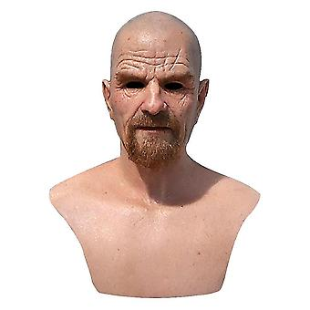 Latex Mask Breaking Bad Professor Mr. White Realistisk Kostume Halloween Cosplay Rekvisitter