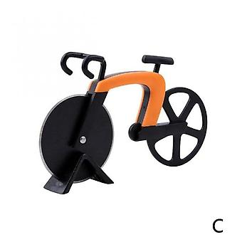 Steel Pizza Knife Two-wheel Bicycle Shape Cool Round Bike Cutter Knife Pizza For Biscuits Cakes Cutting Knives