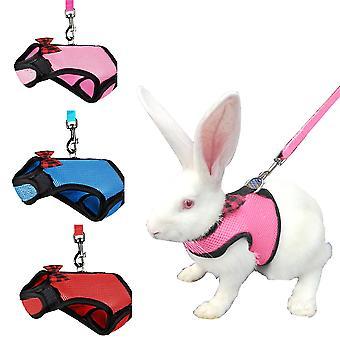Lapin Hamster Poitrine Sangle Chat Harnais avec Laisse pour petits animaux Kitty Pet Harness et Bunny Cat Little Pet Walking