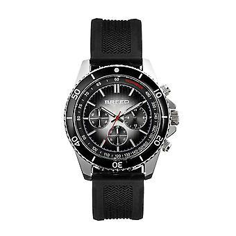 Breed Tempo Chronograph Strap Watch - Black