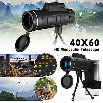Přenosný dalekohled 40x60 Zoom Optický HD objektiv Monokulární Starscope Turistika Lov