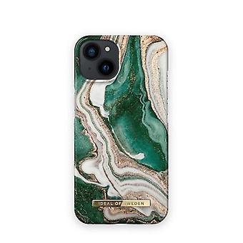iDeal Of Sweden iPhone 13 skal - Golden Jade Marble