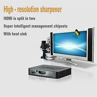 One In Two Out Amplifier Display High Definition Hdmi Splitter Support 3d