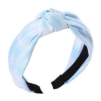 Egyszínű szatén csomózott hajpánt(Baby Blue)