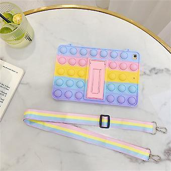 Pop Fidget hračky push to bublina puzdro farba dúha pre Samgung s popruhom