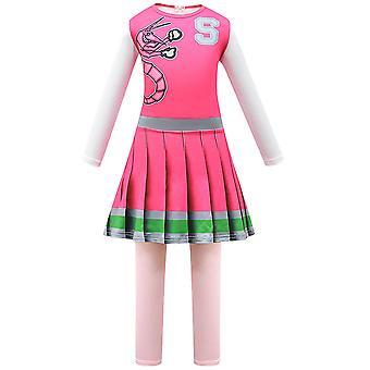 Girls Halloween Zombie High 2 Cosplay Fantasia Cheerleader Fantasia Vestido