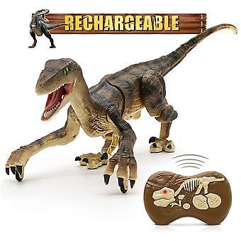 Remote Control Dinosaur Toys, Christmas Gift For Kids, Walking Robot Dinosaur W/ Led Light Up