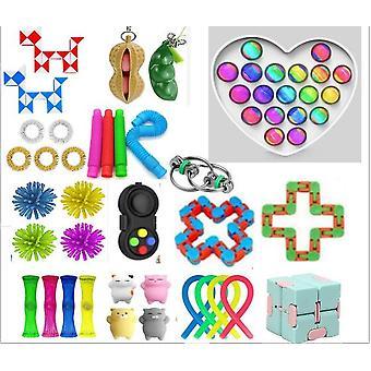 Sensory Decompression Toy Set Puzzle Diy Combination Toys -27