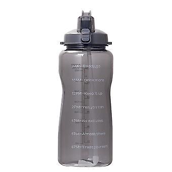 Kültéri vizes palack nagy kapacitású emelőszalag visszapattanó fedél szalmával Hordozható (fekete)