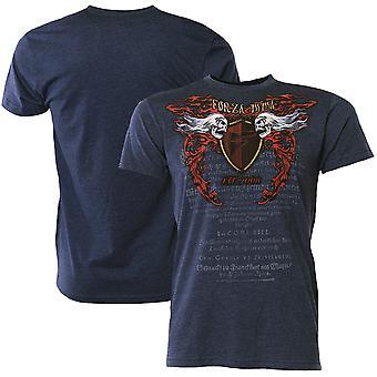 """Forza Sports """"Immortal Crest"""" MMA T-Shirt - Midnight Navy"""
