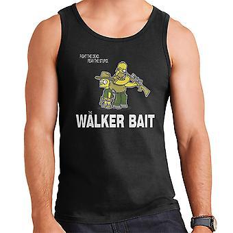 The Walker Bait Walking Dead Rick And Carl Grimes Homer And Bart Simpson Men's Vest