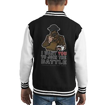 Join The Fight Kid's Varsity Jacket