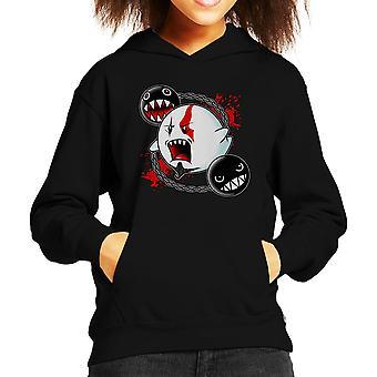 Ghost Of Sparta God Of War Mario Kid's Hooded Sweatshirt