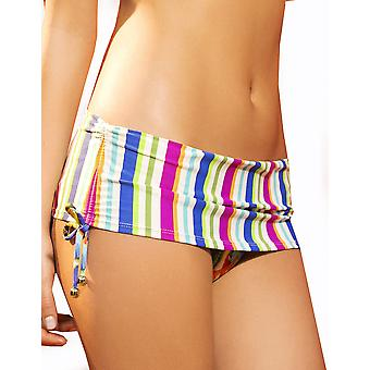Womens Maria Bonita MultiColor Stripes Print Ladies Foldover Bikini Bottom