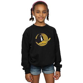 Looney Tunes ragazze Daffy Duck punteggiato profilo Sweatshirt