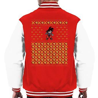 Dragon Ball Z Goku Christmas Men's Varsity Jacket