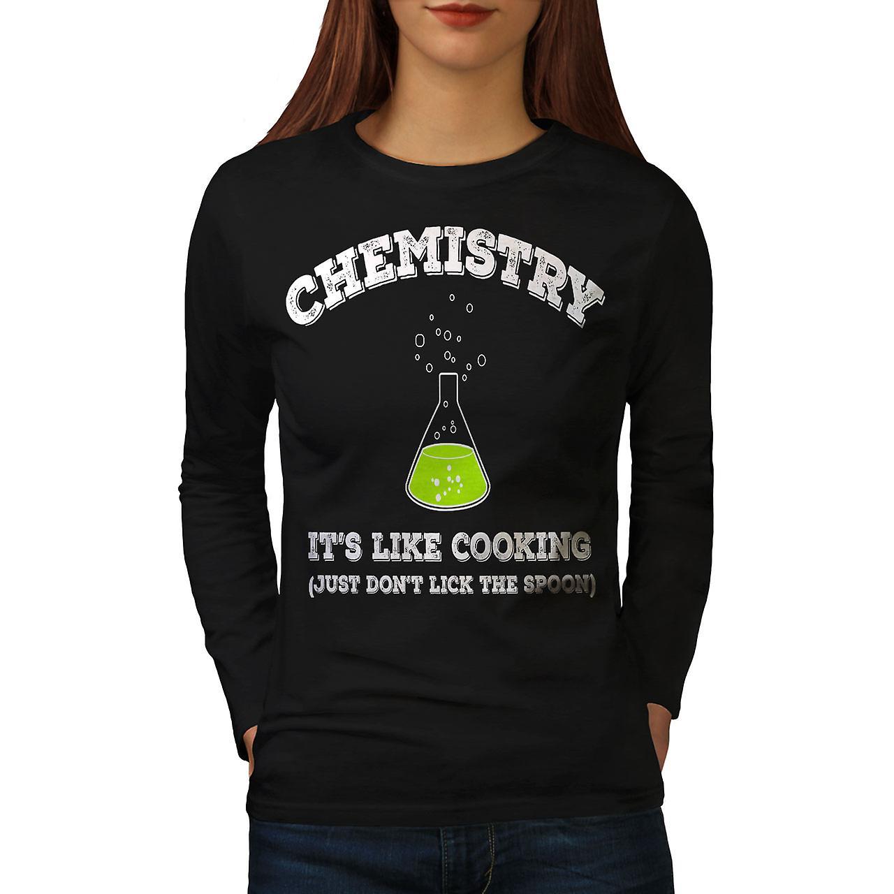 Chimie tshirt femmes noirLong de cuisine | Wellcoda