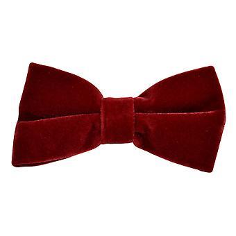 Luxury Dark Red Velvet Bow Tie