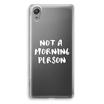 Sony Xperia XA1 przezroczyste etui (Soft) - rano osoba